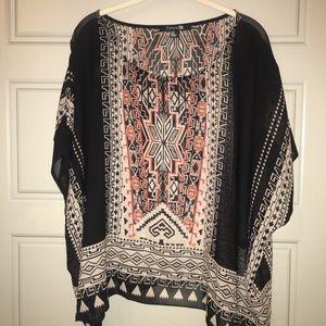 Aztec kimono blouse