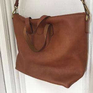 Madewell Zipper Transport- Cognac leather