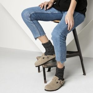 Birkenstock Betula Brown Suede Boston Clogs Shoes