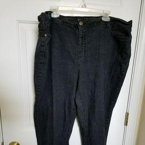 Denim - Dark wash stretch jeans