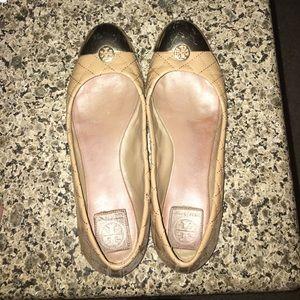 Tory burch Kaitlin ballet flats tan patent 10.5