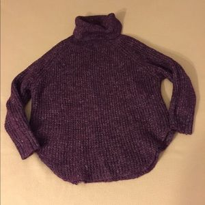 Free People Cowl Neck Sweater S Purple Small EUC