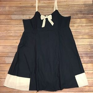 Navy and White Dress NWOT