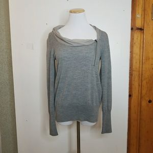 J. Crew Grey Merino Wool Sweater