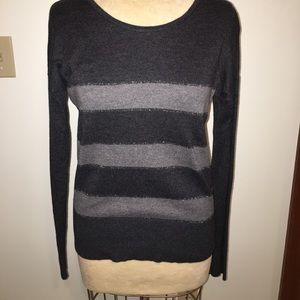Loft light metallic stripe sweater