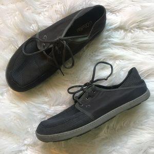 OluKai Men's Nohea Lace Mesh Sneakers Grey SZ 13