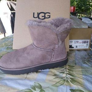 UGG Mini Cuff Gray Taupe Classic Boots 5