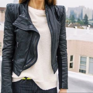 Bcbg Max Azria 100% leather black jacket