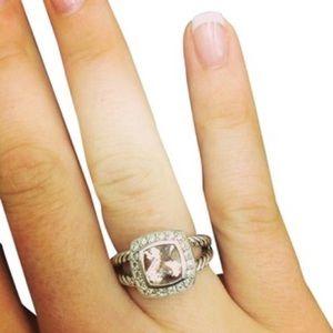 david yurman Petite Albion Ring with Morganite