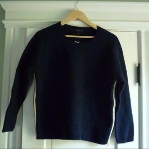 J. Crew navy heavy knit sweater NWT