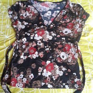 Asian type tie blouse