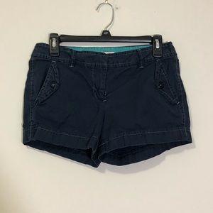 J. Crew: navy chino classic twill city fit shorts
