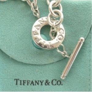 Tiffany & Co Sterling Heart Charm Toggle Necklace
