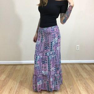 Purple Paisley Maxi Skirt