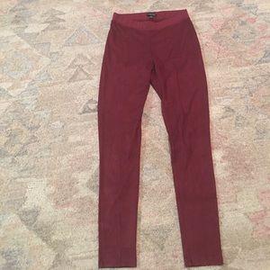 La Fee Verte Anthropologie maroon legging- Small