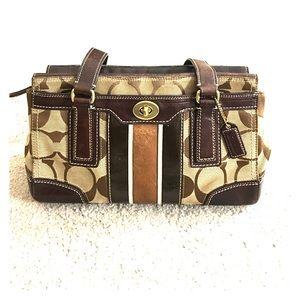 ✨ Coach jacquard brown and tan hobo j0771-11620 ✨