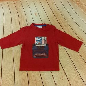 *SALE*  3 Pommes red union jack tshirt 18m