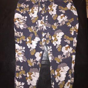 Floral print rayon pants joggers