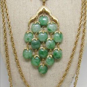 Vintage Crown Trifari Chandelier Necklace