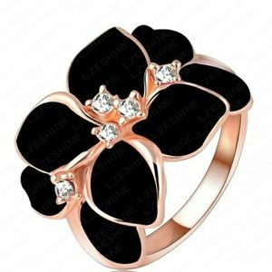 Jewelry - 🍁Just In🍁Trendy Rose Gold Filled Flower Ring