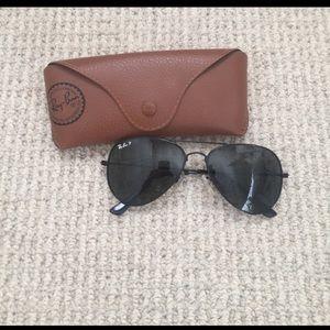 Rayban Polarized Aviator Sunglasses