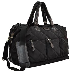 Adrienne Vittadini Quilted Nylon Duffel
