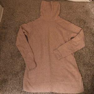 JCrew Warmspun Turtleneck Sweater Heather Oatmeal