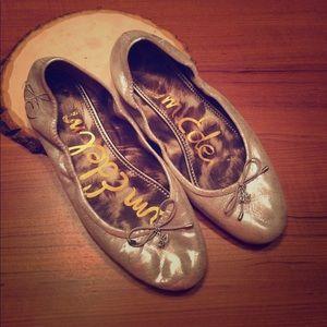 Sam Edelman metallic  ballet flats size 7 1/2