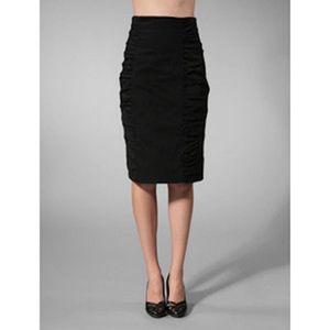 Nanette Lepore Da Vinci Ruched Pencil Skirt Size 6