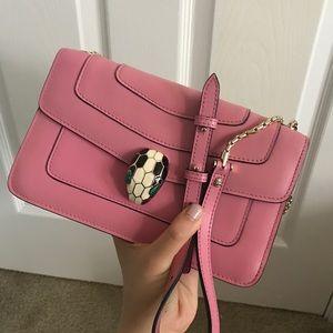 Bvlgari serpenti pink crossbody bag shoulder bag