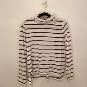 NWT Madewell Striped Turtleneck in Size Medium