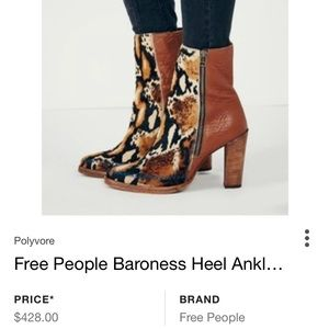 Free people baroness ankle booties