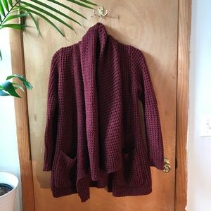 Urban Outfitters Thick Knit Cranberry Sweater