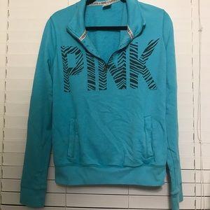 VS Pink Half-Zip Sweatshirt - Size Medium
