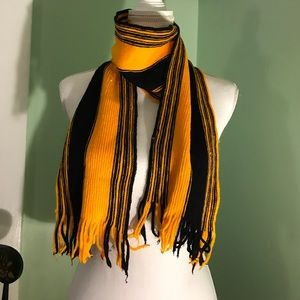 Black and Gold (Steeler colors) scarf