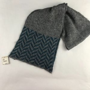 NWT Nordstrom Mohair Wool Blend Chevron Scarf Gray