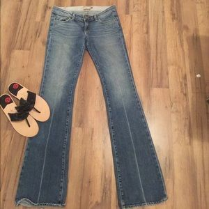 Paige Laurel Canyon Boot Cut Faded wash jeans 28