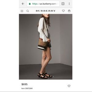 Burberry Bucket Bag - Discontinued Color!