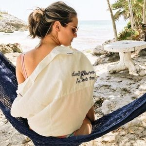 """Anthropologie """"don't follow me I'm lost too"""" tee"""
