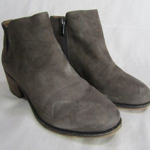 Franco Sarto Olive Green Suede Ankle Boots Booties