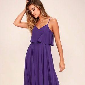 Lulus Purple Maxi Dress NWOT