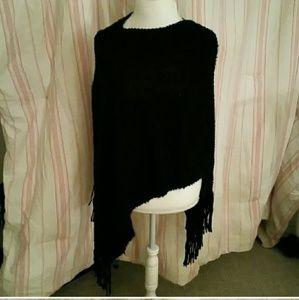 Sweaters - Nwt black poncho sweater one size