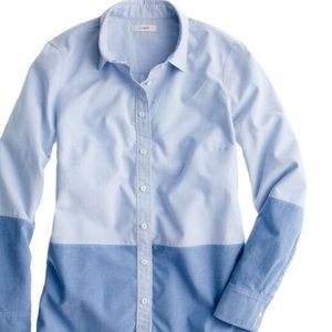 J. Crew EUC Oxford Boy Shirt in Colorblock