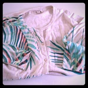 Merona Target cream heathered cardigan xxl