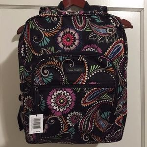Vera Bradley Bandana Swirl Large Campus Backpack