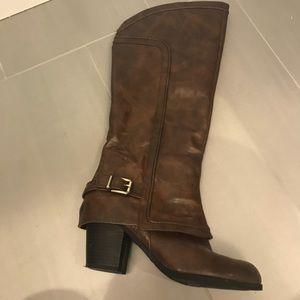 Fergalicious Cognac brown tall boots! 💕