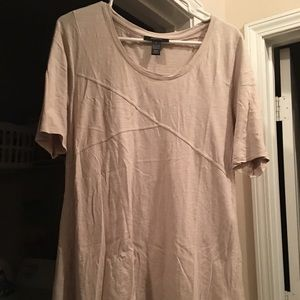 Natural/beige tunic with lace bottom.