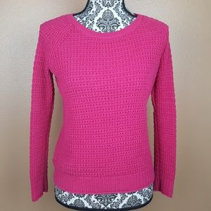 GAP Hot Pink Knit Crew Neck Sweater Size XS