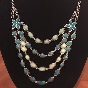 "Jewelry - ""Kaylie"" Teal Statement Necklace Fall"