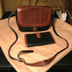 Bally Brown Shoulder Bag with Matching Wallet
